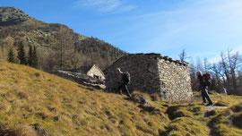 Arrivo all'Alpe Meccia m. 1812