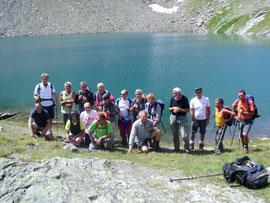 Foto di gruppo al Lago Sirwoltesee m. 2400 circa