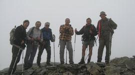 Foto di gruppo min vetta al Pizzo Bandiera m. 2817