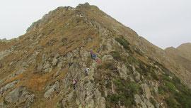 Si scende dalla vetta del Pizzo Marona m. 2051