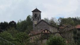 La chiesa di Quarna sotto