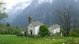 La chiesa di Salecchio inferiore m. 1312