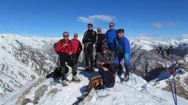 Foto di gruppo in vetta al Monte Ziccher m. 1961