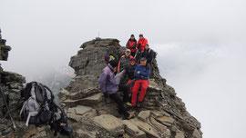 Foto di gruppo in vetta all'Helsenhorn m. 3272