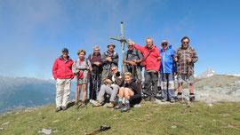 Foto di gruppo in vetta allo Spitzhorli