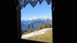 Vista dalla finestra del Rifugio Pozzolo m. 1635