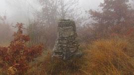 Il cippo di vetta del Mont'Orfano m. 794