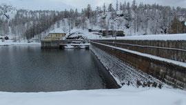 La diga e il Lago di Devero m. 1856