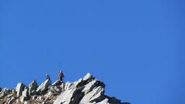 Gabrio e Gianni in vetta al Pizzo Tignolino m. 2246