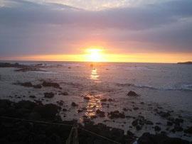 "Sunset in ""City of Refuge"" in Big Island, Hawaii"