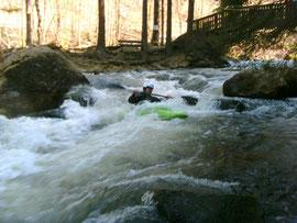 Jörn auf dem Weg ins zweite Kehrwasser der Geisterbahn