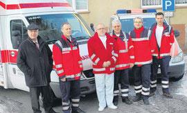 v.l.: Reinhard Doberenz, Harry Hild, Dr. Walter Fiedler, Jörg Bischewski, Alexander Mikulla und Matthias Wollenheit