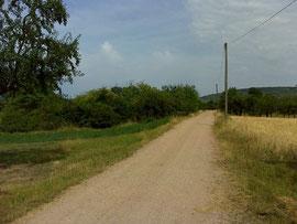 ....die letzten paar Kilometer.