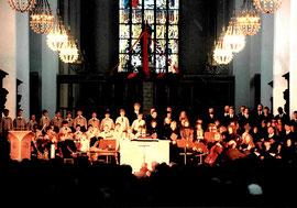 80 Jahre Heilige Nacht Benefinz zu Gunsten des Muko Hilfe e. V. mit Enrico de Paruta im Liebfrauendom zu München, Ensemble der Dommusik am 1.12.1996