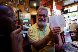Neeli Cherkovski und Maketa Groves im Caffé Trieste San Francisco