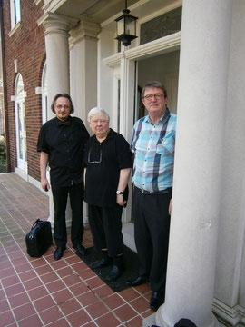 Heinz D. Heisl und Elias Schneitter beim Besuch von William H. Gass in St.Louis