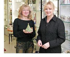 Inhaberin Ulrike Mülfarth (rechts) und Mitarbeiterin Frau Schmelzer