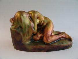 Zsolnay nude statue, Liipola Yrjö, 1906