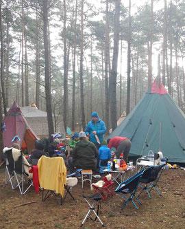 Oertzewinkel Camping im Wald für Outdoor-Gruppen