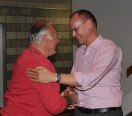 Glückwünsche von Norbert Richter an Fritz Laschinsky