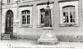 Le Monument aux Morts remplace la statue de Jeanne d'Arc en 1922