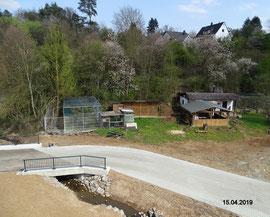 Baustelle Vereinsheim im April