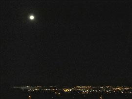 Moon on Lake Rotorua