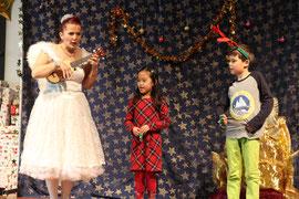 Weihnachtliche Erzählung vom Christkind und dem Weihnachtsmann