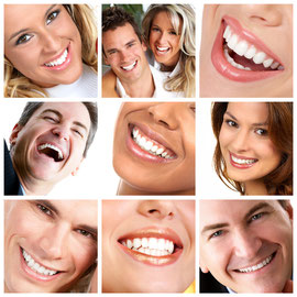 Weissere Zähne durch Zahnaufhellung (Bleaching) beim Zahnarzt: Schadet den Zähnen nicht und schützt sie vor Karies.