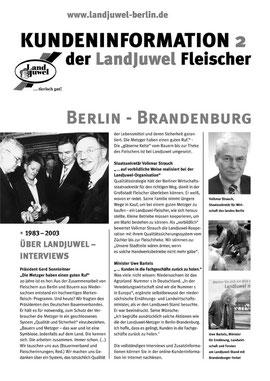 Print-Kundeninformation mit Fotos und Interviews IGW 2003. (c) Helga Karl
