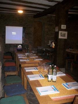 Firmenpräsentation im Gerberkeller von WeinBaur