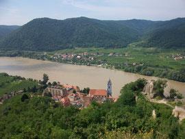 Blick auf Rossatzbach, Wachau