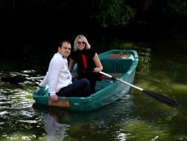 weekend romantique au château - promenade en barque autou du chateau-fort de Tennessus