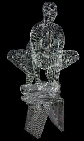 Jelly Belly. 2005. Wire mesh. 160 x 90 x 50cm. Owned by the artist. © Charles Rocco