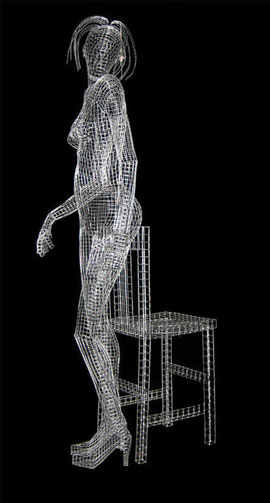 Taken. 2005. Wire mesh. 160 x 60 x 40cm. Owned by the artist. © Charles Rocco