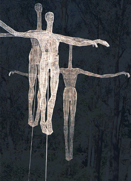 Scarecrows. (detail). 2000. Wire mesh, steel, concrete. 500 x 400 x 400cm. Private Collection. © Charles Rocco