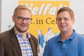Jörn Fangmann und Andreas Naujok (beide Hermann-Reske-Schule, Lobetalarbeit Celle e.V.  Foto: Alexander Ahrenhold