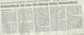 Volksstimme Schönebeck vom 13.02.2011 berichtete