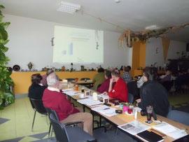 Die Präsentation zum Bericht des Vorstandes (Foto: Gudrun Edner)