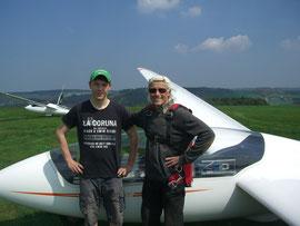 Clemens mit Fluglehrer