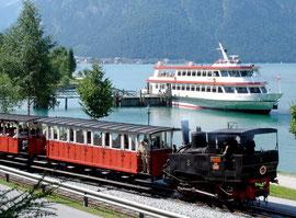 Achenseebahn und Schifffahrt - Sehenswürdigkeit ab Ferienwohnung Sumperer, Tirol