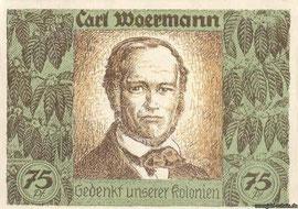 Notgeld der Deutschen Kolonialgesellschaft Berlin 75 Pfennig, 1921, Rückseite