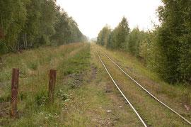 Gleis auf einem Moordamm