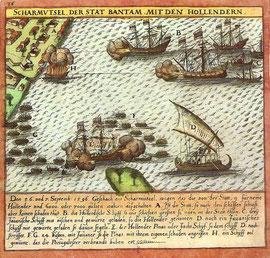 Mit der Ankunft in Bantam auf Java brach Kapitän Cornelis de Houtman 1596 das portugiesische Gewürzmonopol in Ostindien