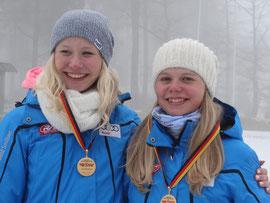 Marie (links) mit Teamgefährtin Anna-Maria Dietze