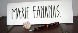 A propos de Marie Fananas jeune écrivain biographie