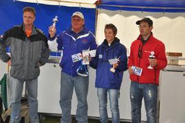 Die Sieger: Günther Ulsamer Platz 2, Marco Mazzucchelli Platz 1, Fabien Turpauf Platz 3