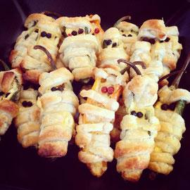 Jalapeño-Frischkäse-Mumien, vegan