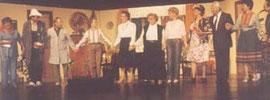 von links: Liesbeth Meier, Christoph Maushake, Egon Giezel, Maria Giezel, Margarete Düe, Irmgard Grunow, Christiane Tschacksch, Marianne Eggers, Helmut Kostelnik, Lydia Kostelnik und Egon Wenzel