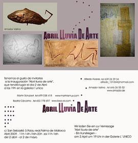 Abril - Lluvia de Arte, L'Unico Gallery, Palma de Mallorca, Spain
